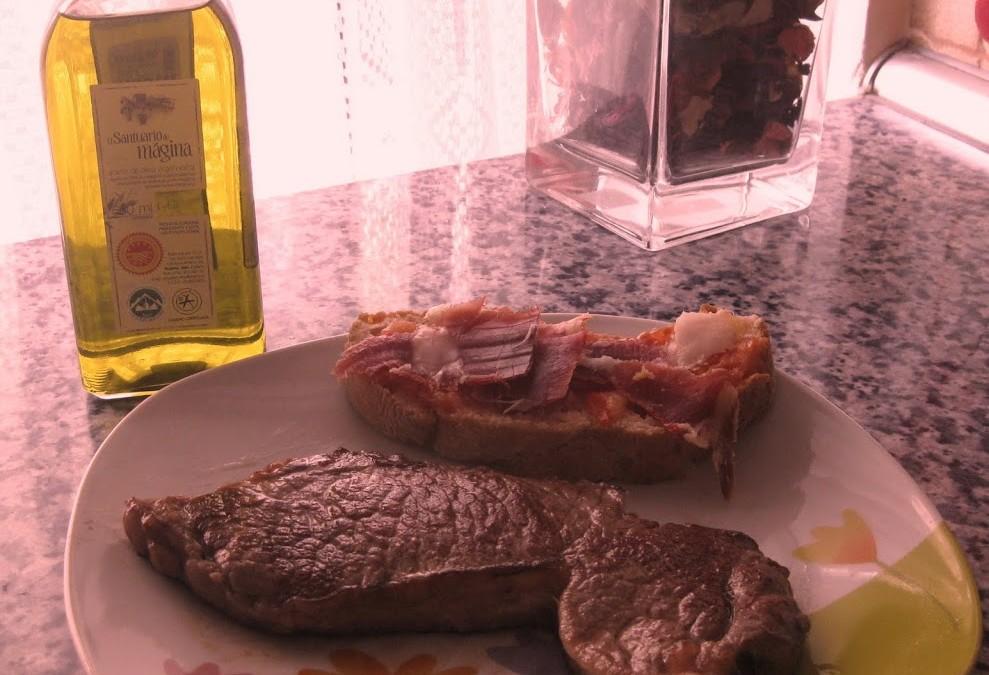 El aceite de oliva y la carne de vacuno