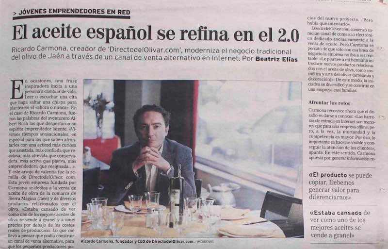 Entrevista: Directo del Olivar a El Mundo