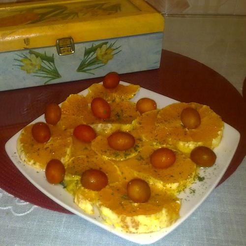 Ensalada de naranjas y aceite de oliva
