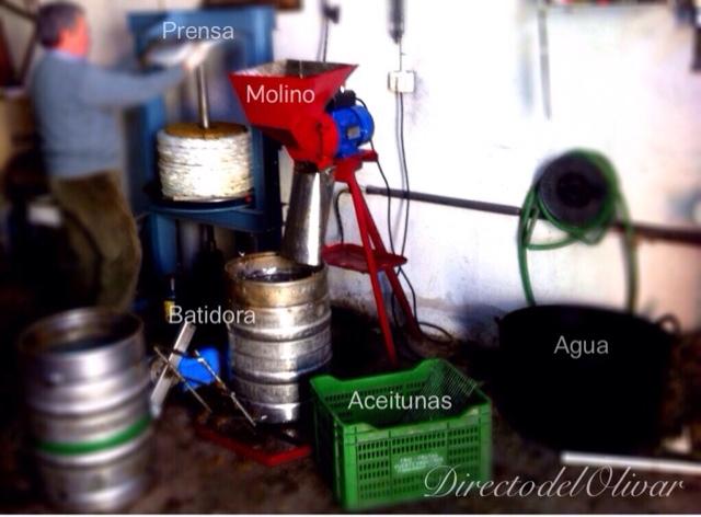 Almazara de aceite artesanal