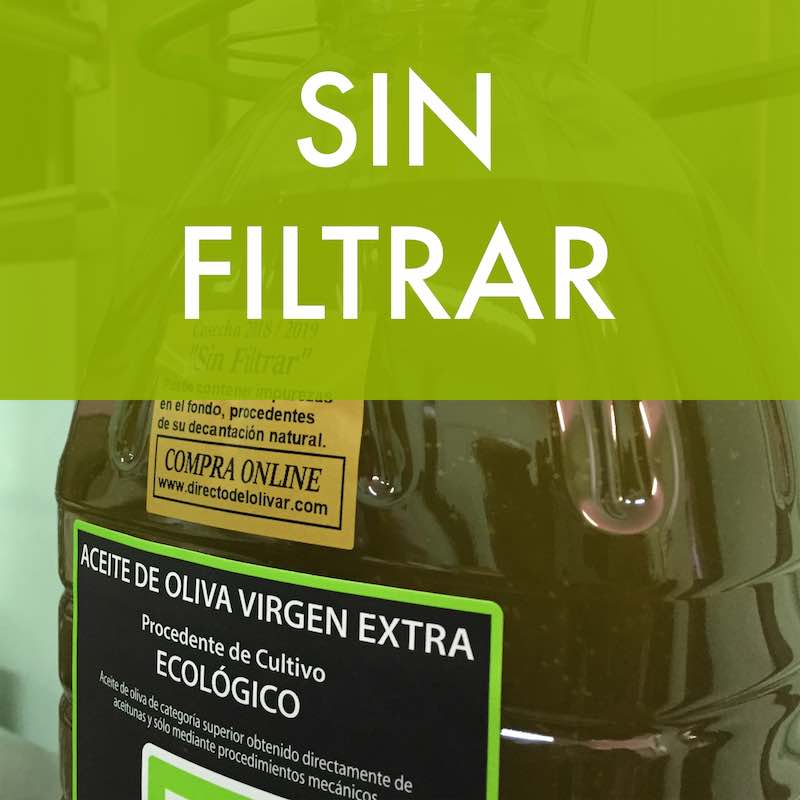 Aceite de oliva sin filtrar nueva cosecha