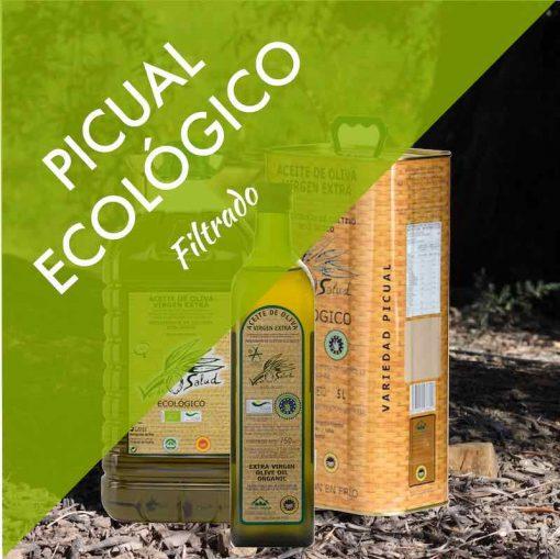 Aceite de Oliva Virgen Extra PICUAL ECOLÓGICO CERTIFICADO