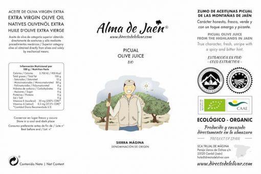 Alma de Jaén ecológico etiqueta