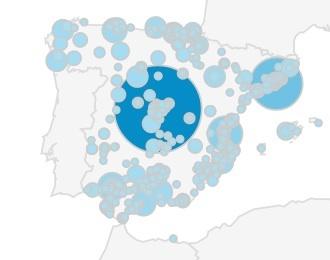Mapa de compra de aceite de oliva