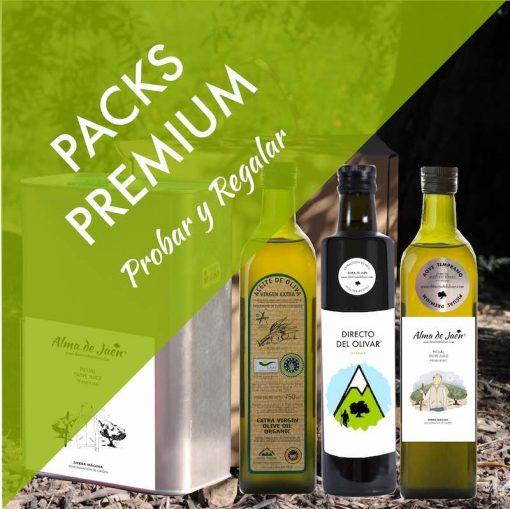 Aceite de Oliva para probar y regalar en packs premium