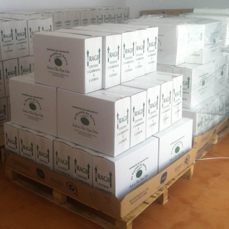 Aceite de oliva virgen extra cajas