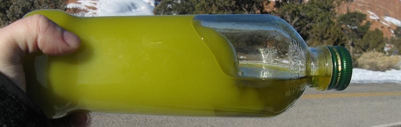 Aceite de oliva congelado