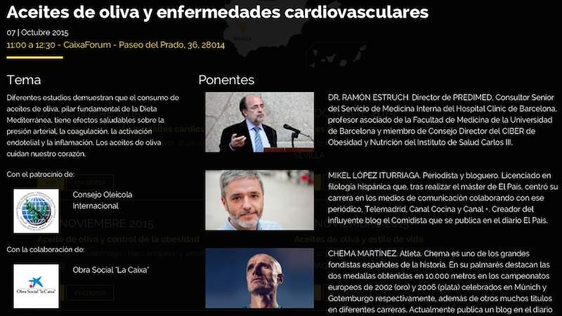 Aceite de oliva y enfermedades cardiovasculares