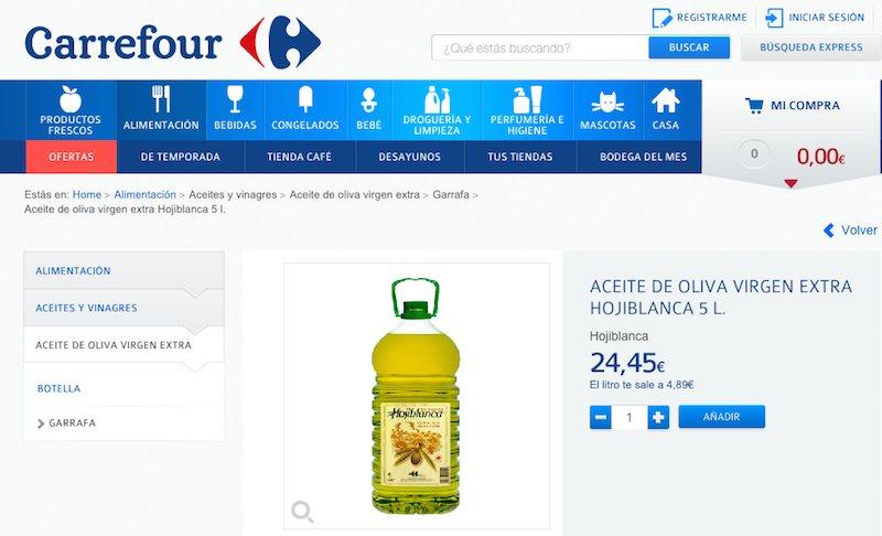 Subida precios aceite de oliva