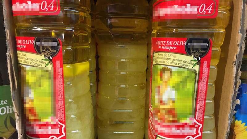 Aceite de oliva en supermercado