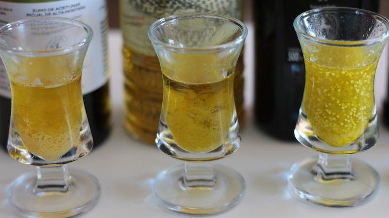 Test de la nevera con aceite de oliva