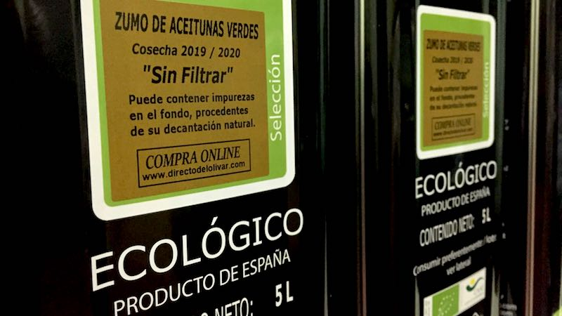 Aceite de oliva verde sin filtrar 2019 / 2020