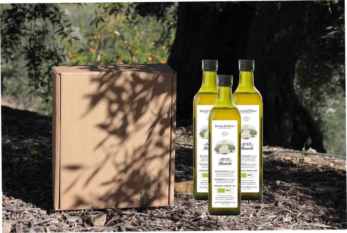 Botellas de aceite de oliva personalizadas