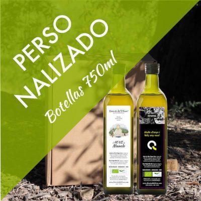 Botellas aceite AOVE personalizadas 750ml