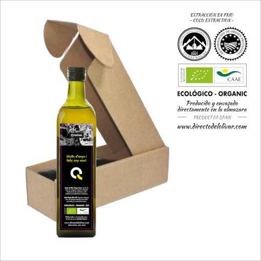 Botella personalizada de aceite de oliva virgen extra
