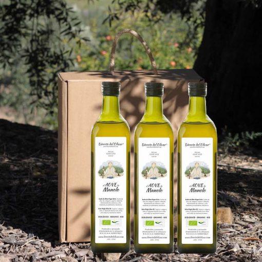 Botellas de aceite de oliva personalizadas estuche