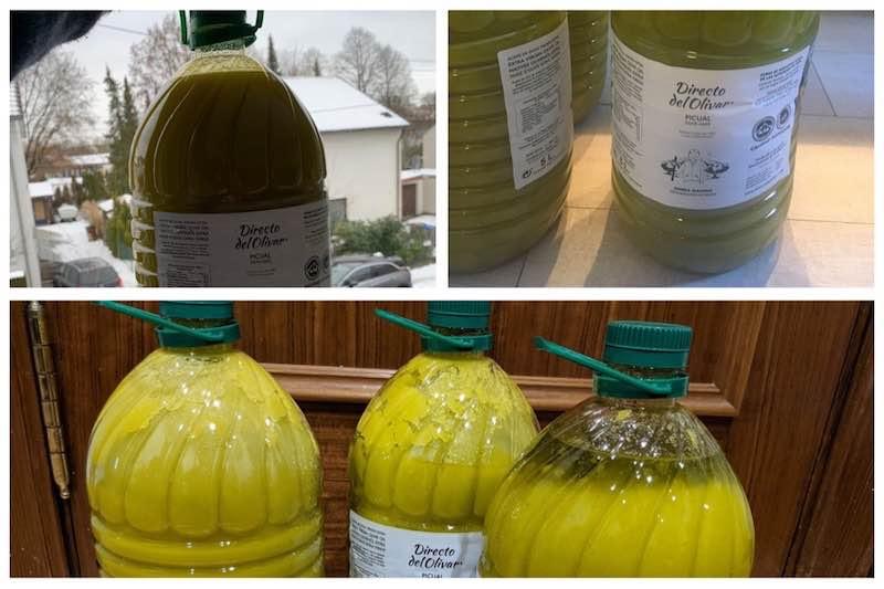 Aceite de oliva congelado que hacer