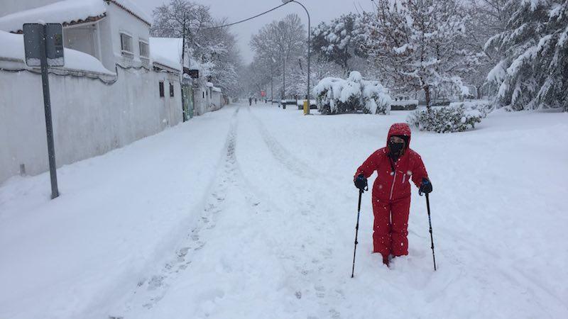 La gran nevada Filomena en Madrid